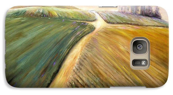 Galaxy Case featuring the painting Golden Fields by Bonnie Goedecke