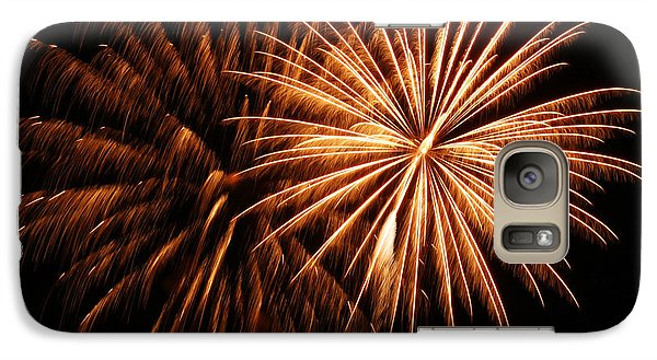 Galaxy Case featuring the photograph Golden Firework by Tyra  OBryant