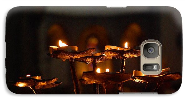 Galaxy Case featuring the photograph Golden Lights by Dany Lison