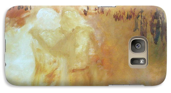 Galaxy Case featuring the painting Golden Memories by Keith Thue