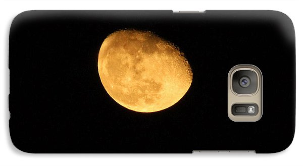 Galaxy Case featuring the photograph Golden Moon by Tyra  OBryant