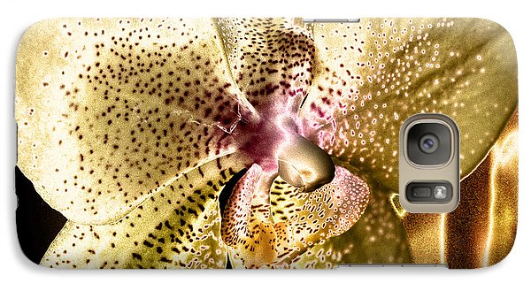 Galaxy Case featuring the photograph Golden Orchid by Barbara Middleton