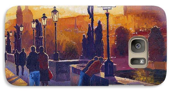 Architecture Galaxy S7 Case - Golden Prague Charles Bridge Sunset by Yuriy Shevchuk