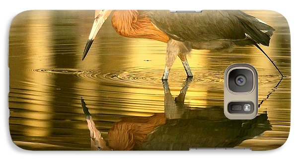 Galaxy Case featuring the photograph Golden Reflection by Myrna Bradshaw