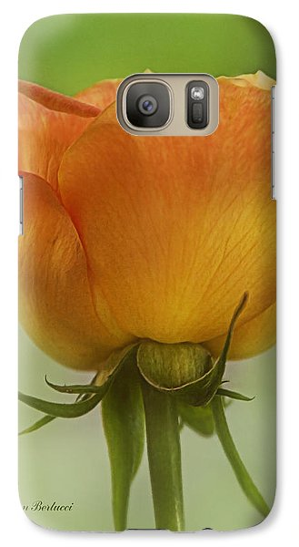 Galaxy Case featuring the photograph Golden Rose by Joan Bertucci