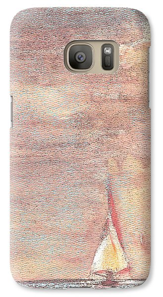 Galaxy Case featuring the painting Golden Sails by Richard James Digance
