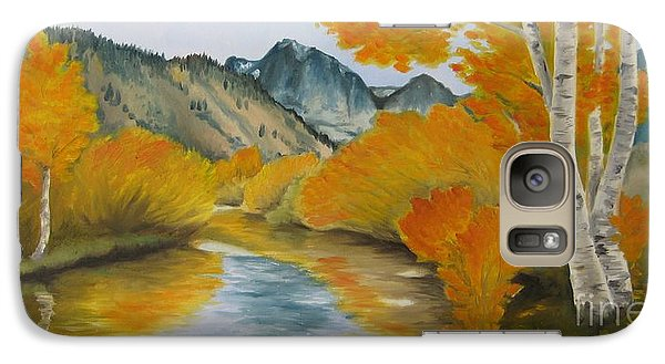 Galaxy Case featuring the painting Golden Serenity by Jindra Noewi