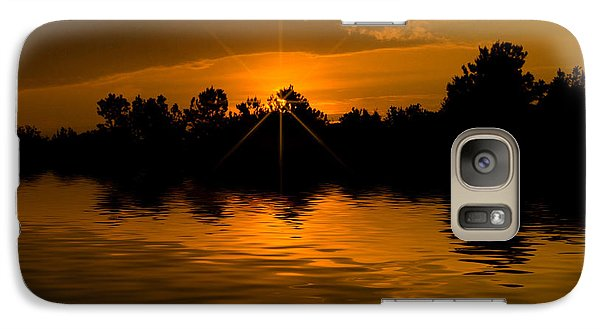 Galaxy Case featuring the photograph Golden Sunrise by Cindy Haggerty