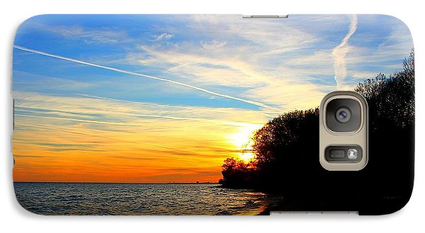 Galaxy Case featuring the photograph Golden Sunset by Davandra Cribbie