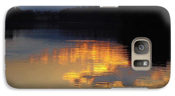Galaxy Case featuring the photograph Golden Sunset by Vilas Malankar