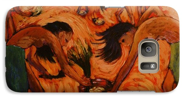 Galaxy Case featuring the painting Good Harvest by Charles Munn