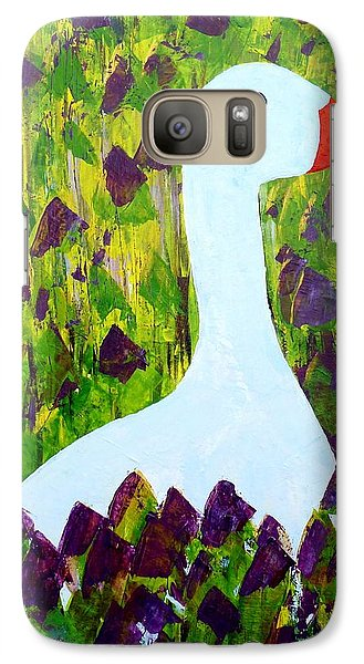 Galaxy Case featuring the painting Goose by Barbara Moignard