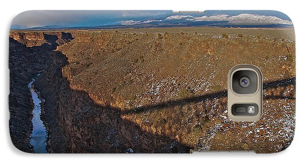 Galaxy Case featuring the photograph Gorge Bridge Shadow by Britt Runyon