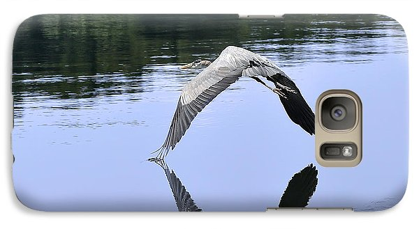 Galaxy Case featuring the photograph Graceful Heron by Nava Thompson