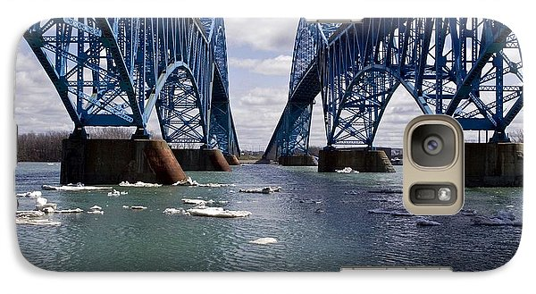 Galaxy Case featuring the photograph Grand Island Bridges by Darleen Stry