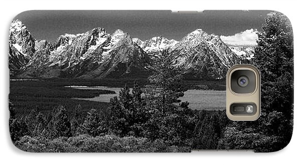 Galaxy Case featuring the photograph Grand Tetons by Dan Wells