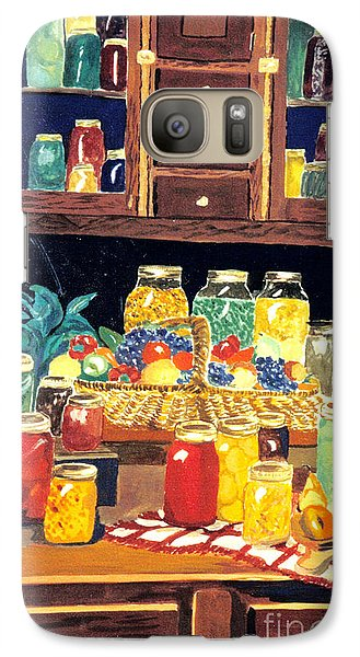 Galaxy Case featuring the painting Granny's Cupboard by Julie Brugh Riffey