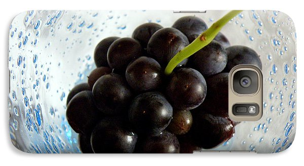 Galaxy Case featuring the photograph Grape Cluster In Biot Glass by Lainie Wrightson