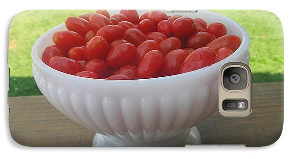 Galaxy Case featuring the photograph Grape Tomatoes by Tina M Wenger