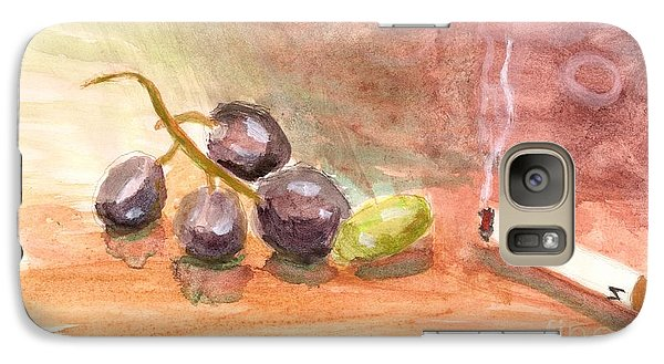 Galaxy Case featuring the painting Grapeality by Rod Ismay