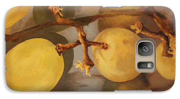Galaxy Case featuring the painting Grapes On Foil by Rachel Hames