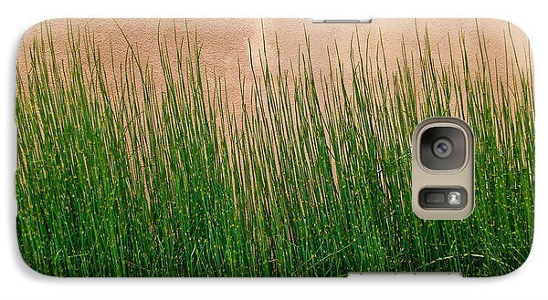 Galaxy Case featuring the photograph Grass And Stucco by David Pantuso