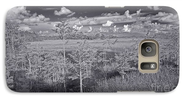 Galaxy Case featuring the photograph Grassy Waters 3 Bw by Larry Nieland
