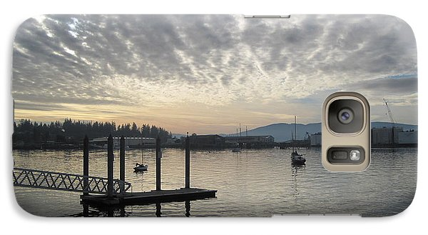 Galaxy Case featuring the photograph Gray Day On Bellingham Bay by Karen Molenaar Terrell