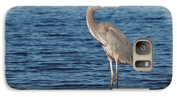 Galaxy Case featuring the photograph Great Blue Heron by Art Whitton