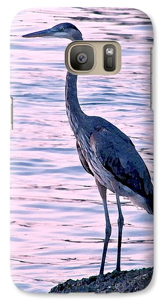 Galaxy Case featuring the photograph Great Blue Heron by Brian Wright
