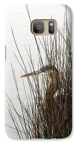 Galaxy Case featuring the photograph Great Blue Heron by Kay Lovingood