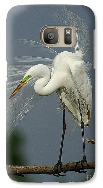 Great Egret Galaxy S7 Case by Bob Christopher