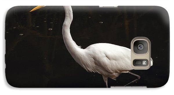 Galaxy Case featuring the photograph Great Egret Hunting by Art Whitton