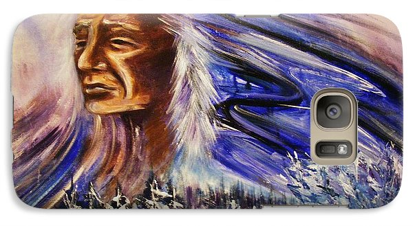 Galaxy Case featuring the painting Great Father - Winter by Karen  Ferrand Carroll