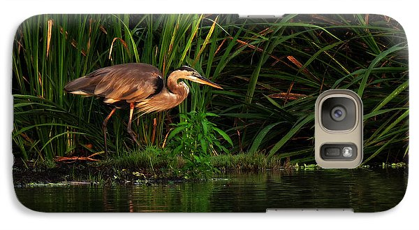 Galaxy Case featuring the photograph Great Heron by Deborah Smith
