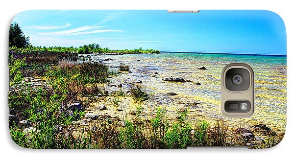 Galaxy Case featuring the photograph Great Lakes Summer Shoreline by Janice Adomeit