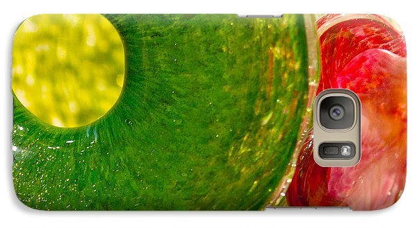 Galaxy Case featuring the photograph Green And Red by Artist and Photographer Laura Wrede
