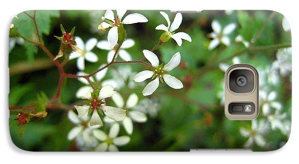Galaxy Case featuring the photograph Green And White by Kathy Bassett
