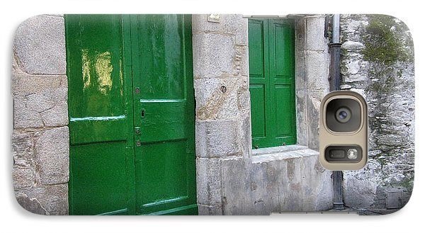 Galaxy Case featuring the photograph Green Door by Arlene Carmel