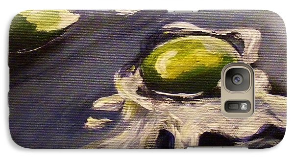 Galaxy Case featuring the painting Green Eggs No Ham by Karen  Ferrand Carroll
