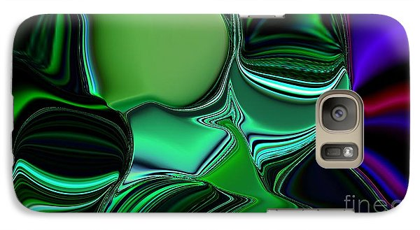 Galaxy Case featuring the digital art Green Nite Distortion 3 by Greg Moores