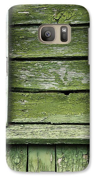 Galaxy Case featuring the photograph Green Wooden Wall by Agnieszka Kubica