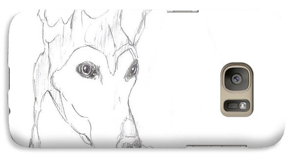 Galaxy Case featuring the drawing Greyhound by George Pedro