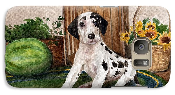 Galaxy Case featuring the painting Growing Fast by Nancy Patterson