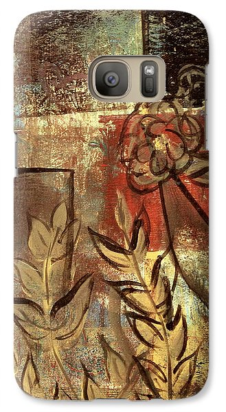Galaxy Case featuring the painting Growing Wild by Kathy Sheeran