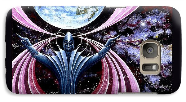 Galaxy Case featuring the painting Guardian Angel by Hartmut Jager