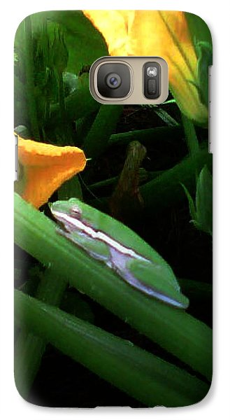 Galaxy Case featuring the photograph Guardian Of The Zucchini by George Pedro