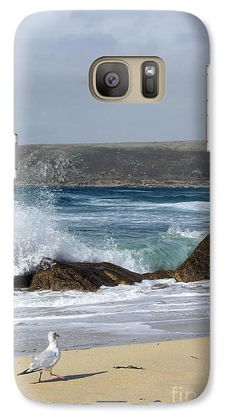 Galaxy Case featuring the photograph Gull On The Sand by Linsey Williams