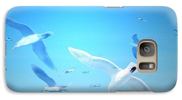 Galaxy Case featuring the digital art Gulls In Flight by Michele Cornelius