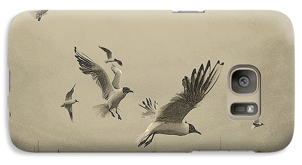 Galaxy Case featuring the photograph Gulls by Linsey Williams